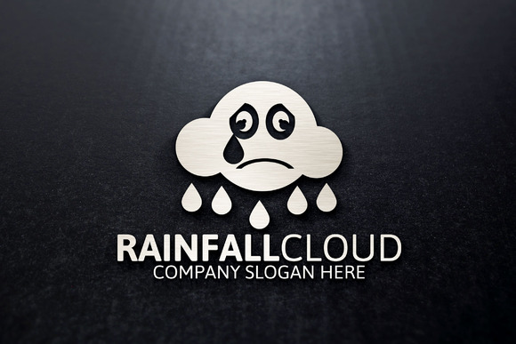 Rainfall Cloud Logo