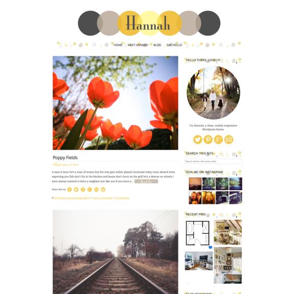 Hannah A Responsive Wordpress Theme