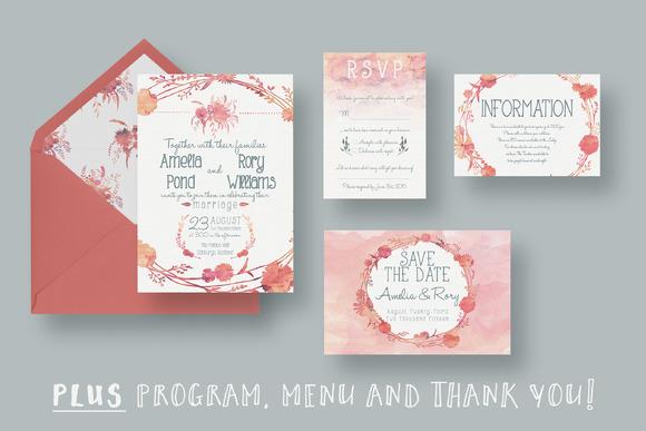 Watercolour Wedding Suite 2.0