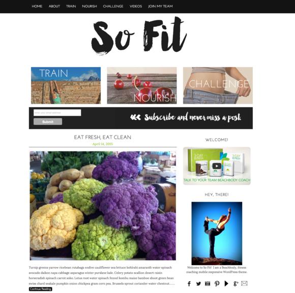 So Fit Fitness Beachbody WordPress