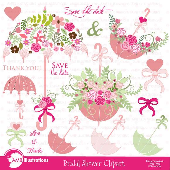 Bridal Shower Wedding Clipart 871