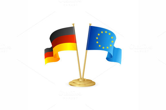 Germany And Europe Vector Table Flag