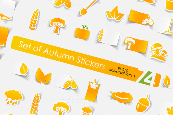 74 Autumn Stickers