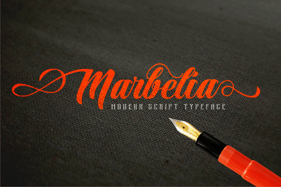 Marbelia Script With Bonus Badge