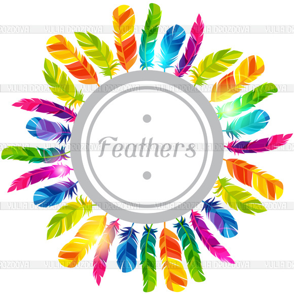Colorful Backgrounds With Feathers