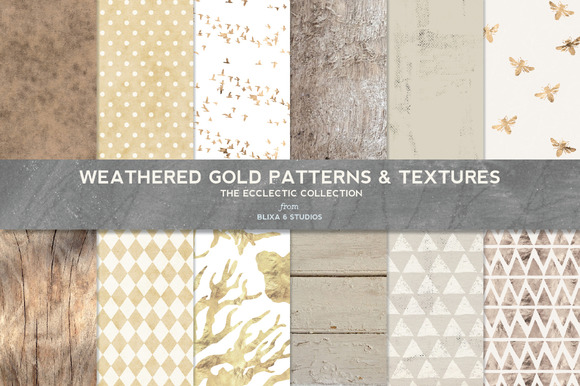 Weathered Gold Patterns Textures