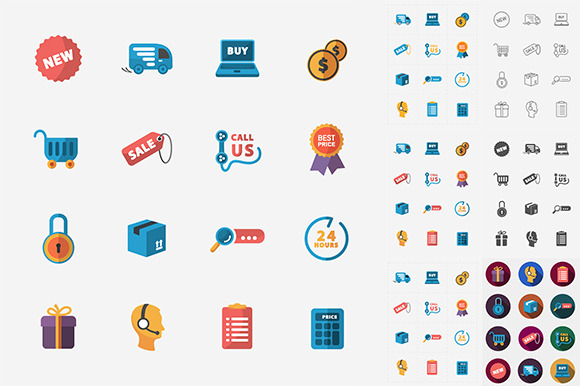 Modern Shop Icons