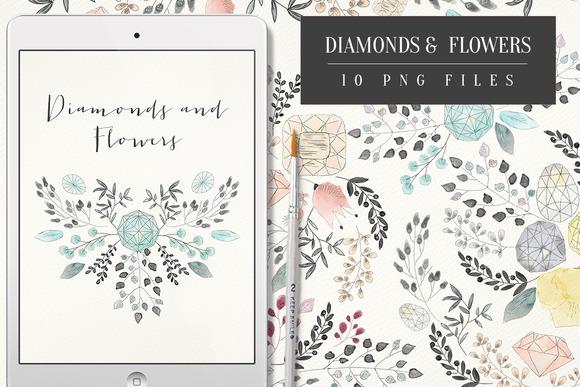 Diamonds And Flowers
