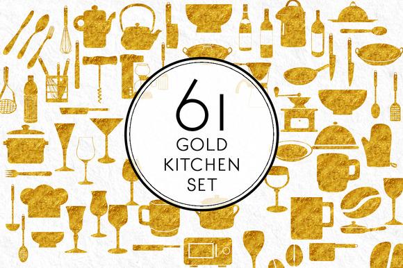 Gold Kitchen Set