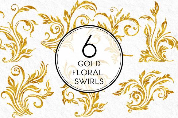 Gold Floral Swirls