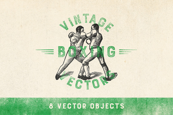 Vintage Boxing Vector Pack