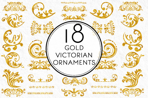 Gold Victorian Ornaments
