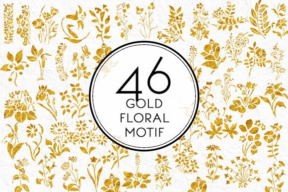 Gold Floral Motif