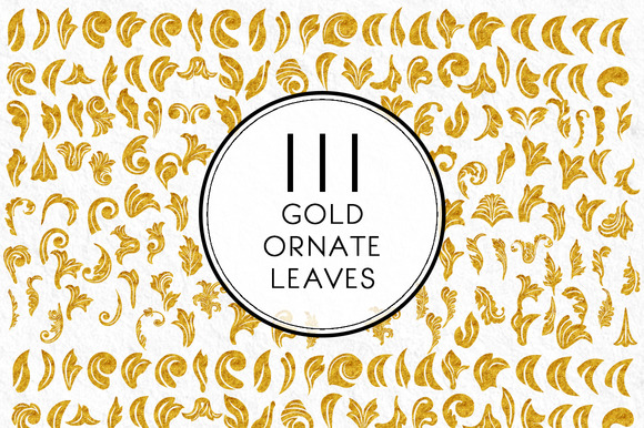 Gold Ornate Leaves