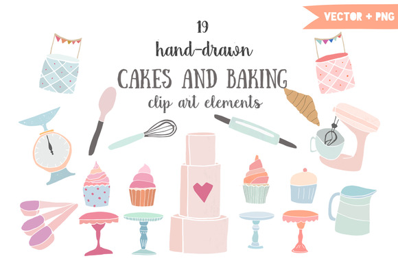 Cakes And Baking Clip Art