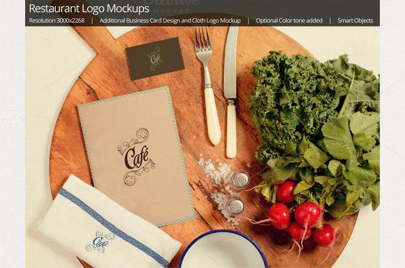 Restaurant Logo Mockup 4