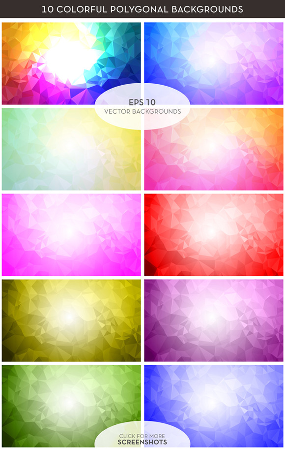 Colorful Polygon Vector Backgrounds