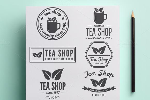 Collection Of Tea Shop Logo