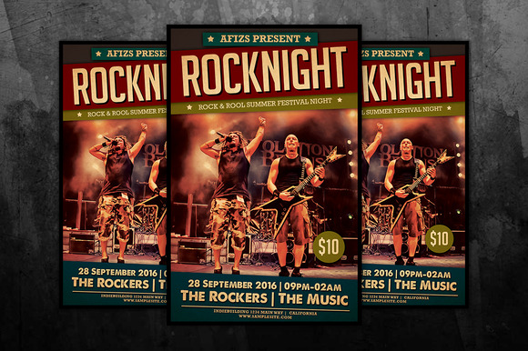 Rock Night Concert Flyer