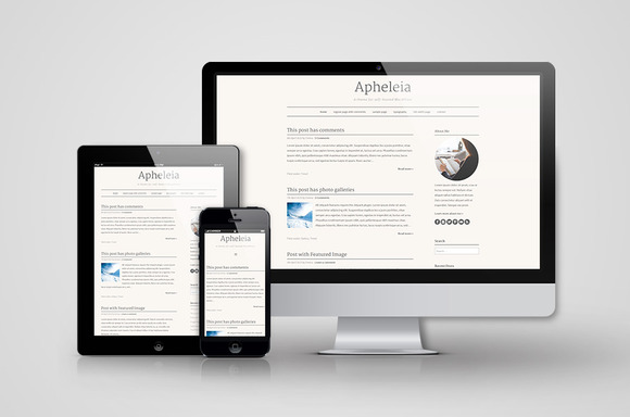 Responsive WordPress Theme Apheleia