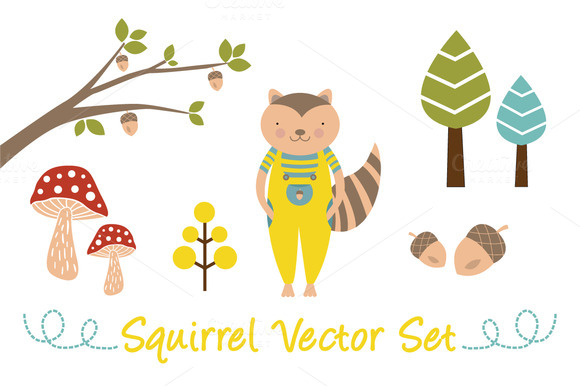 Squirrel Vector Set