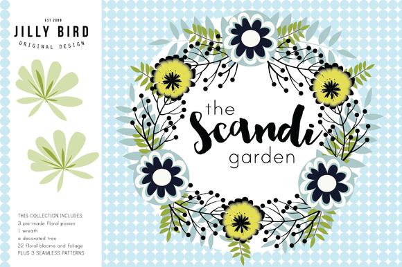 Scandinavian Garden Illustrations