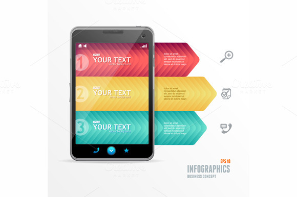 Vector Smartphone With Infographic