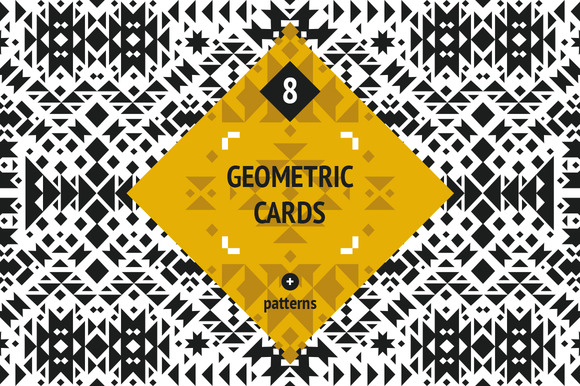 8 Geometric Cards Patterns