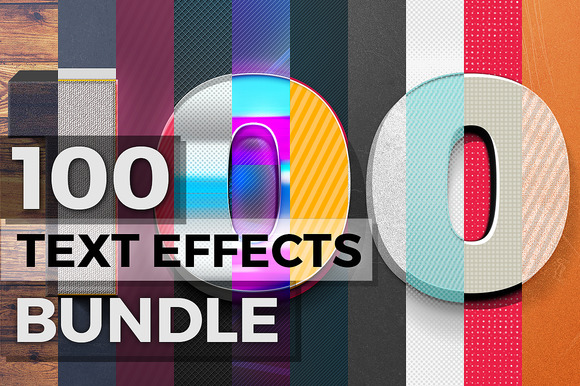 100 Text Effects Bonus Items