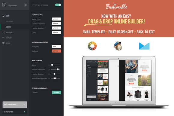 Fashionable Responsive Email Builder
