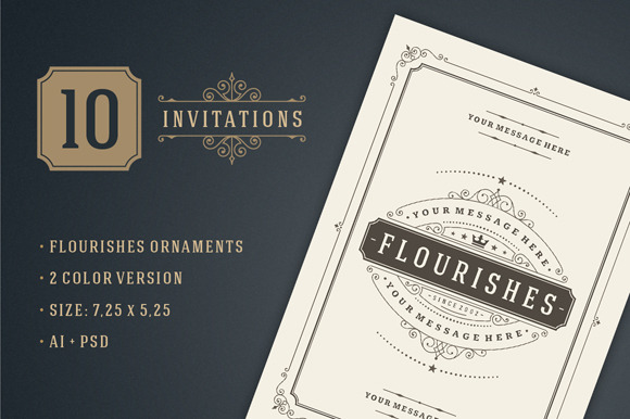 10 Vintage Invitations Volume 1
