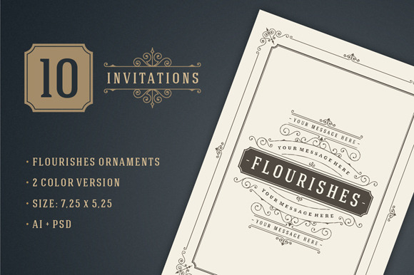 10 Vintage Invitations Volume 2