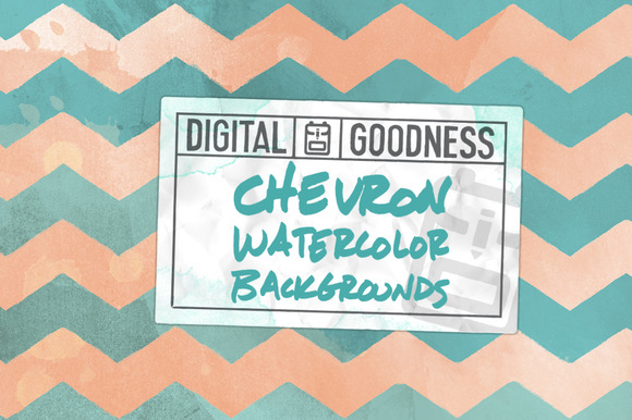 Chevron Watercolor Backgrounds