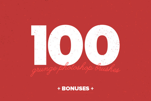 100 Grunge PS Brushes Bonuses