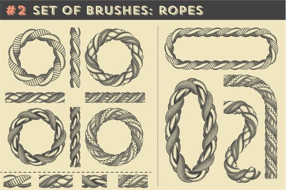 Set Of Brushes #2 Ropes