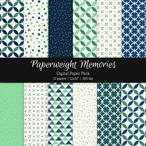 Patterned Paper Northern Lights