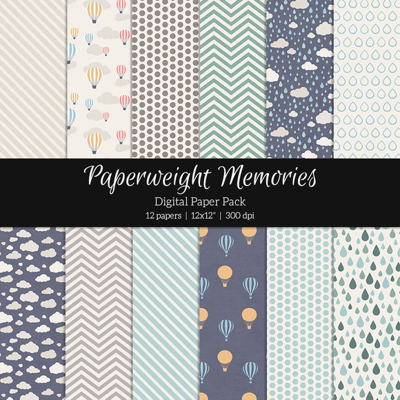 Patterned Paper Rainy Day