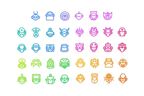 Mega Minimal Iconset Mega Man 1-5