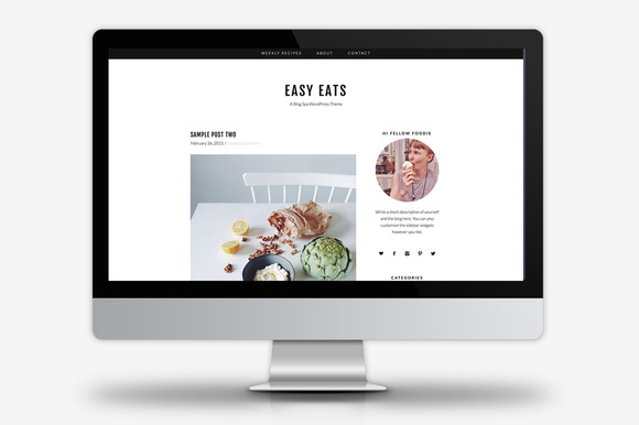 Easy Eats WordPress Theme