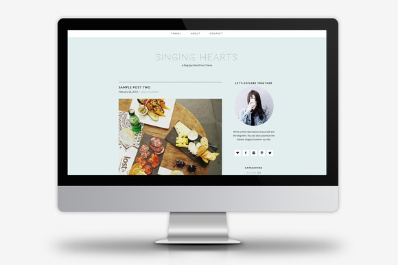 Singing Hearts WordPress Theme