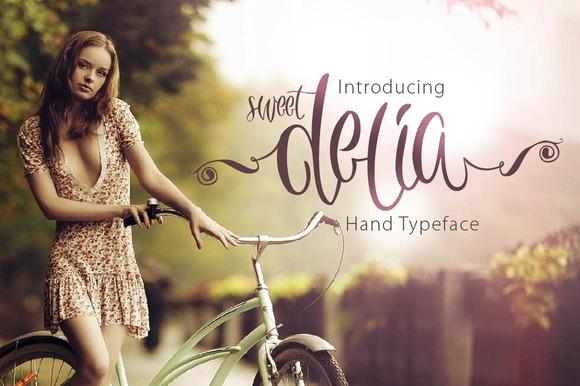 Sweet Delia Hand Typeface