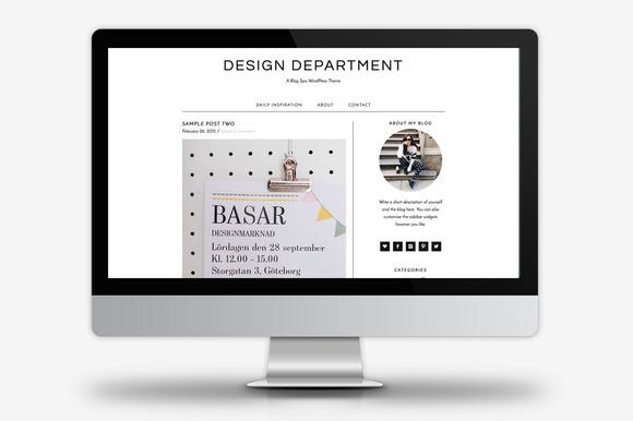 Design Department WordPress Theme