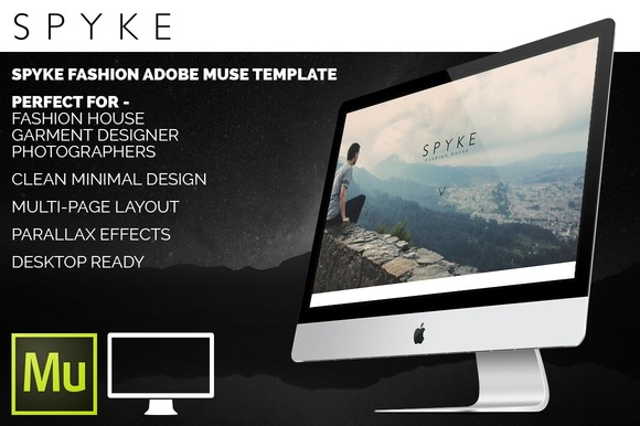 Spyke Fashion Adobe Muse HTML