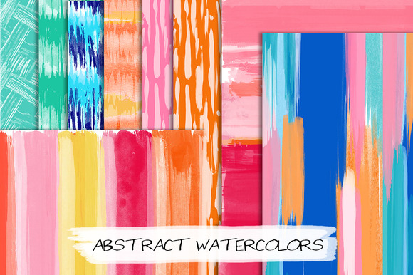 Handmade Abstract Watercolors 12x12
