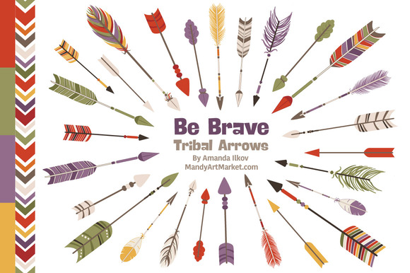 Autumn Tribal Arrows Vector Clipart