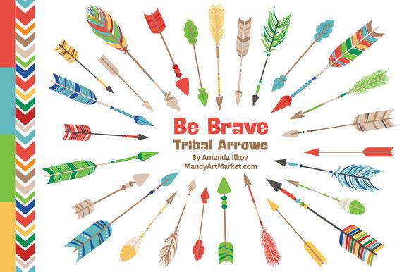 Crayon Box Tribal Arrows Clipart