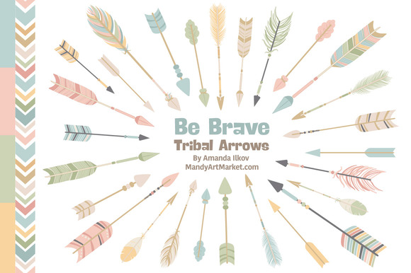Pastel Tribal Arrows Clipart