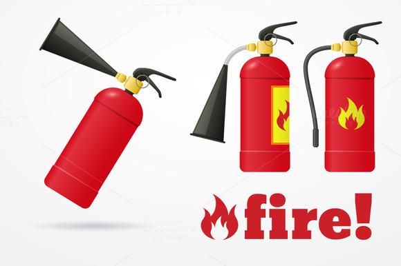Fire Extinguisher Set