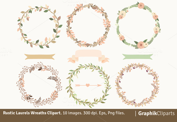 Rustic Laurel Wreaths