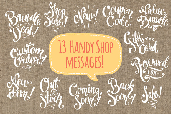 Shop Messages Digi Stamps